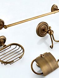 Bathroom Accessory Set / Towel Bar / Toilet Paper Holder / Robe Hook / Soap Dish / Towel Warmer / Antique Bronze