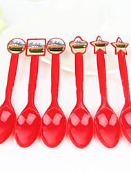 Aniversário Festa Tableware-6Peça/Conjunto Talheres Marcador Plastic Tema Clássico Other Não-PersonalizadoAzul de céu claro / Amarelo /