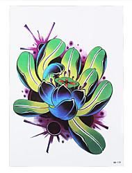 1pc Waterproof Tattoo Bloom Lotus Flower Picture Design Temporary Women Men Arm Waist Body Art Tattoo Sticker HB-179