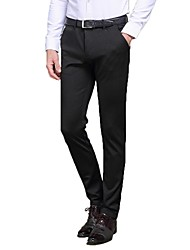 Men's Solid Casual / Work / Formal Suits,Rayon / Polyester / Spandex Black