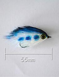 """500 pcs Harte Fischköder Blau 5 g/1/6 Unze,55 mm/2"""" / 2-1/8"""" Zoll,Fester Kunststoff Köderwerfen"""