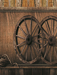 JAMMORY 3D Wallpaper For Home Contemporary Wall Covering Canvas Material Retro Wheel Picture3XL(14'7''*9'2'')
