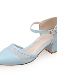 Damen-High Heels-Kleid / Lässig / Party & Festivität-Kunstleder-Blockabsatz-Absätze / D'Orsay und Zweiteiler / Spitzschuh-Blau / Rosa /
