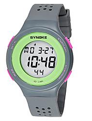 SYNOKE Cartoon Digital Watch Ultra-thin Fashion Sports LED Kids Watches Women Men Geneva Silicone montre homme