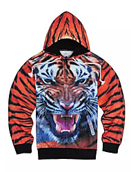 3D  Hoodie Long Sleeve Animal Tiger Printing Clothing