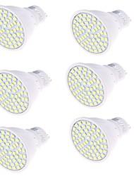 5 GU10 Spot LED MR16 80 SMD 2835 450 lm Blanc Chaud / Blanc Froid Décorative AC 100-240 V 6 pièces