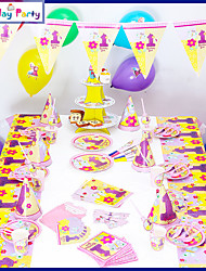 Birthday Decorations-16Item/Set Paper Decoration Birthday Vintage Theme PinkSpring / Summer / Fall /Winter