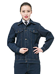 Autumn Thick Long-Sleeved Washed Denim Overalls Suit Welding Protective Clothing Coal Miners Clothes Tooling