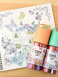 Pintura Bolígrafo Lápices de colores Bolígrafo,Madera Barril Rojo Azul Amarillo Morado Naranja Verde colores de tinta For Suministros de