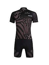 ILPALADINO Maillot et Cuissard de Cyclisme Homme Manches Courtes Vélo Maillot Ensemble de Vêtements Séchage rapide Résistant aux