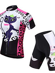 KEIYUEM Cycling Jersey with Shorts Unisex Short Sleeve BikeWaterproof Breathable Quick Dry Anatomic Design Rain-Proof Waterproof Zipper