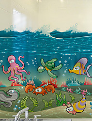Window Film Window Decals Style Underwater World Matte PVC Window Film - (60 x 58)cm