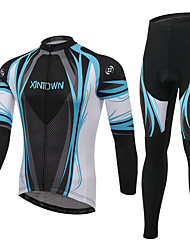 Cycling Jersey with Tights Men's Long Sleeve Bike Clothing Suits Quick Dry Breathable Comfortable Terylene Mesh/Net LYCRA® Classic Fashion