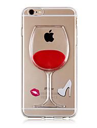 karzea ™ течет жидкая вода вина стекло картины TPU задняя обложка чехол для Iphone 6с 6 плюс