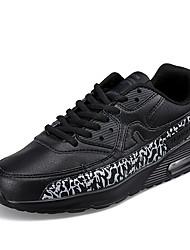 Femme-Sport-Noir / BlancConfort-Sneakers-Cuir