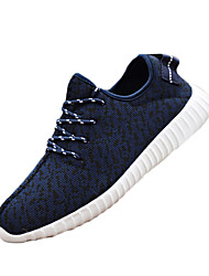 Men's Sneakers Summer Fabric Outdoor Athletic Flat Heel Lace-up Black Blue Red Gray
