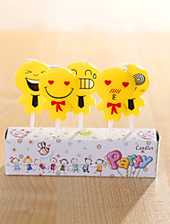 Party Decoration Birthday Candles Set (5 Pieces) Small Cartoon Candles