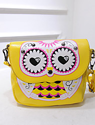 Women PU Casual  Outdoor  Shopping Owl Printing Snap Shoulder Bag