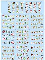 11 Designs Nail Art Christmas Stickers Santa Claus Trees Nail Beauty BLE906-916