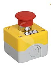 caixa de botão de parada de emergência com a caixa de caixa de interruptor de botão de parada de emergência 1 botão buraco.