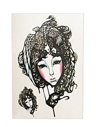 1pc Phoenix Female Role in Chinese Opera Flower Arm Sleeve Tatoo Women Men Body Art Temporary Tattoo Sticker HB-017