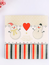 100% virgin pulp 20pcs Snowman Wedding Napkins