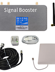 LCD-Display dcs 1800MHz Handy-Signal-Booster mit Peitsche und Panel-Antennen-Kit grau