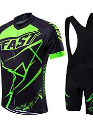 Fastcute Велокофты и велошорты-комбинезоны Муж. Универсальные С короткими рукавами Велоспорт Биб Колготки Джерси Наборы одежды
