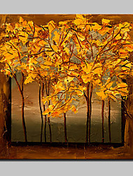 Hand Painted Tree Landscape Oil Paintings On Canvas Modern Wall Art Picture With Stretched Frame Ready To Hang 80x80cm