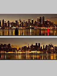 Пейзаж / Архитектура Холст для печати 2 шторы Готовы повесить , Вертикальная