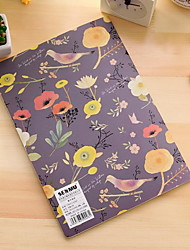 Colorful Flowers and Birds B5 Car Line Exquisite Embossed Design Notepad(Random Colors)