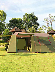 AIITEI® >8 persons Tent Double Family Camping Tents Three Rooms Camping Tent >3000mmBreathability Ultraviolet Resistant Rain-Proof