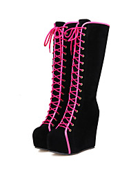 Women's Boots Spring / Fall / Winter Riding Boots / Fashion Boots / Round Toe Fleece / Patent Leather Dress / Casual