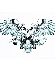 1pc Body Art Makeup Skull Owl Pattern Temporary Tattoo Women Men Body Arm Back Art Sticker HB-221