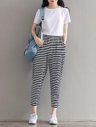 De las mujeres Pantalones Chinos-Simple Microelástico-Poliéster / Nailon