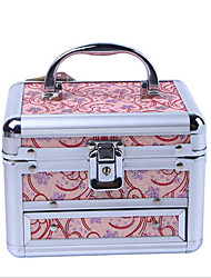 Double Layer Cosmetic Box With Mirror Jewelry And Jewelry Box
