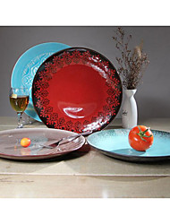 10.5 inches Retro Decoration hand-painted Ceramic Plate