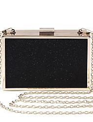 L.west Women Elegant High-grade Metallic Glitter Evening Bag