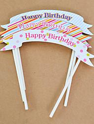 Aniversário Festa Tableware-5Peça/Conjunto Acessório para Bolo Marcador Cartão de Papel Duro Tema rústico Other Não-Personalizado