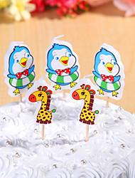 partido velas de aniversário decoração happybirthday definidos (5 Pieces) girafas bonitos e pequena vela de frango
