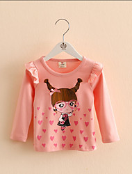Baby Girl T-Shirt Girls Autumn Lace Sleeve Shirt