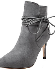 Women's Boots Spring /Summer/Fall/Winter Fashion Boots Fur Party & Evening / Casual Stiletto Heel Black/Gray
