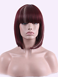 Euramerican Manufacturer Ddirect Selling Foreign Trade Net Short Wig Wine Red Highlights Rice White Cosplay Wig.