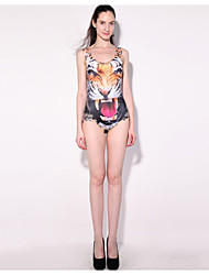 Europe tiger Printing Digital Printing Swimwear Triangle Swimsuit