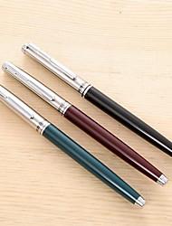 Classic Metal Squeeze Water Iridium Tip Calligraphy Pen Smooth Flow Students Iridium Pen (Random Color)