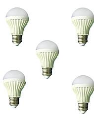 5pcs 5w e27 2835smd kühlen weißen Ton& Lichtkontrolllampe führte Smart-Lampen (220-240)