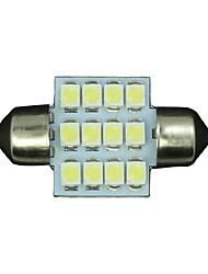 4 X PURE White 31MM 12SMD Festoon Dome Interior LED Light bulbs DE3175 3021 6428