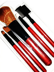 5 Makeup Brushes Set Bristle Portable Wood Face Others