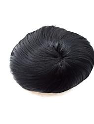 """1шт 7 """"* 9"""" бразильские topees человеческих волос для мужчин Toppers волосы мужские замена системы волос тонкой моно тупею для мужчин"""