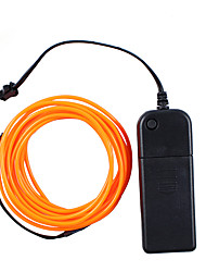 3M Fleixble Neon String Light Operated By Aa Battery El Wire Rope Tube With Controller Decoration Light(Random Color)